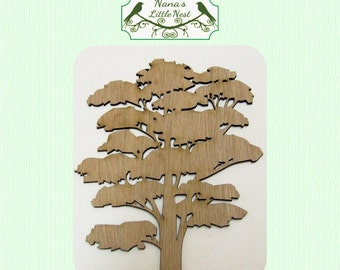 Tree with Canopy Wood Cut Out