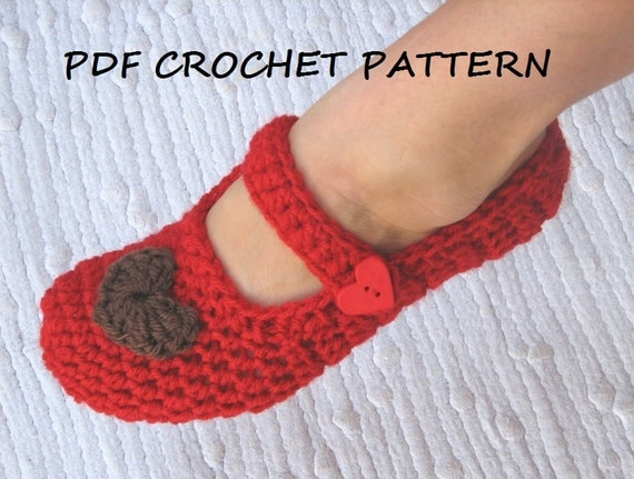 Mary Jane Slippers Crochet Pattern PDFEasy Great for