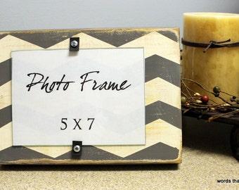 "Wooden Chevron Frame (5"" x 7"")"