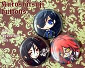 Kuroshitsuji / Black Butler buttons set