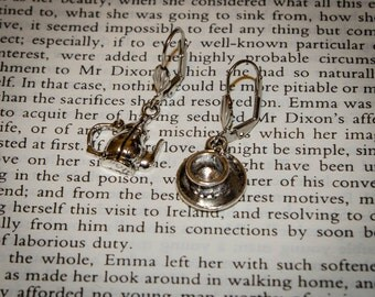 Tea with Jane Austen: Teapot and Cup and Saucer Earrings
