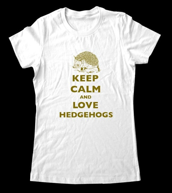 Keep Calm and Love Hedgehogs T-Shirt - Soft Cotton T Shirts for Women, Men/Unisex, Kids