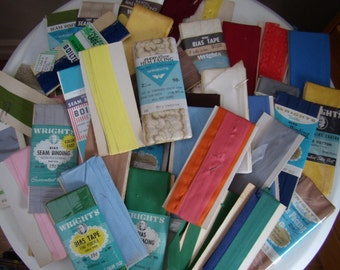 Lot of over 50 Yards Bias and Seam Binding Sewing Restorations