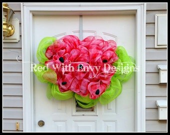 Watermelon Wreath, Watermelon, Wreath, Summer Wreath, Watermelon Decoration, Summer Decoration