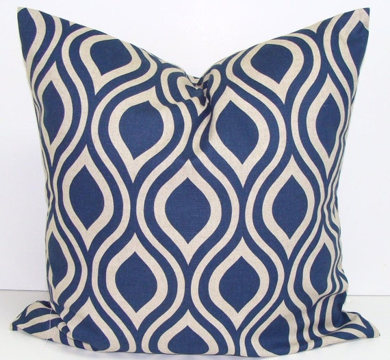 Decorative Pillows Etsy : BLUE PILLOWS.20 inch Decorative Pillow by ElemenOPillows on Etsy