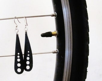Dragonfly Wing Earrings - Recycled Jewelry - Eco Friendly Gift - handmade - bicycle - bike