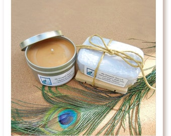Soy Candle and Natural Soap Gift Set Created for The Artisan Group's 2013 Earth Day Celebrity Gifting Event