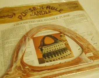Handbag Purse Handles Knitting Crochet Macrame DIY Vintage Sewing Pattern