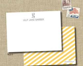 personalized stationery. note card set. monogramed stationery