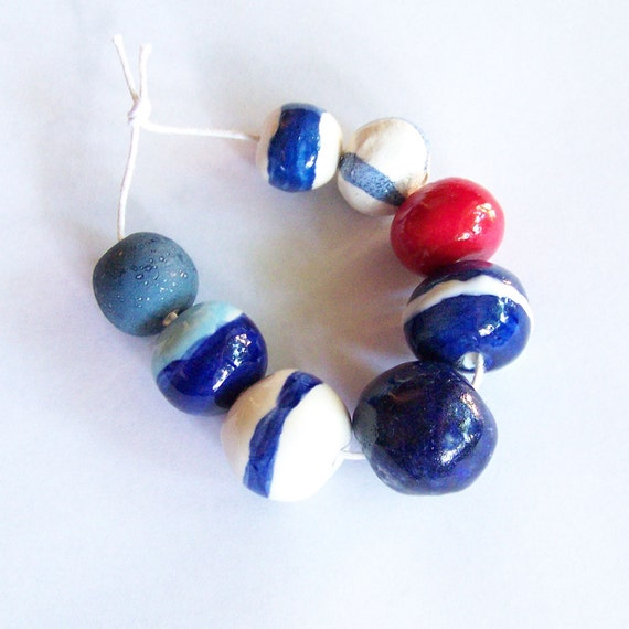 Beads, ceramic beads, handmade in South Africa