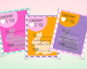 """Easter Chevron """"Somebunny Loves You"""" Easter Printable Placecards"""