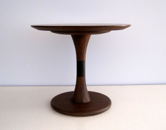 Small Pedestal Side Table Mid Century