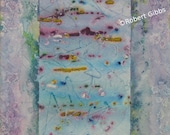 Original Abstract Painting, Abstract Wall Art, Contemporary, Pastel Colors, Lavender Purple, Pink, Green