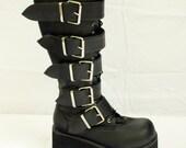 Demonia Black Platform Goth Boots