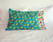 froggy flannel pillow case