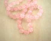Rose Quartz Necklace: Hand Beaded - Pink - Carved Stone - Unique Jewelry - Pink Jewelry - Strand Necklace - Beadwork Jewelry