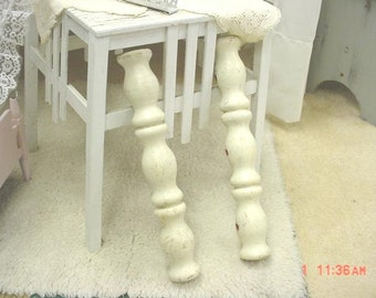 Vintage Spindles Architectural White Peely Paint Cottage Project