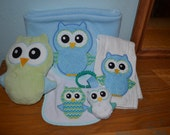 Owl softie AND applique embroidery design - Instant Download