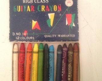 Vintage Japanese High Class Guitar Crayons