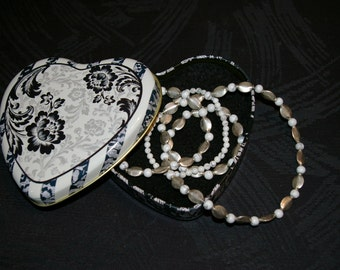 """Reduced Price - 25"""" Sterling Silver and Natural Stone Necklace and Bracelet Set"""