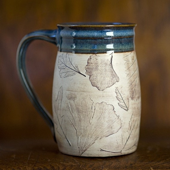 Handmade Ceramic Mug - 16oz Coffee Mug - Rustic Mug - Pottery Mug