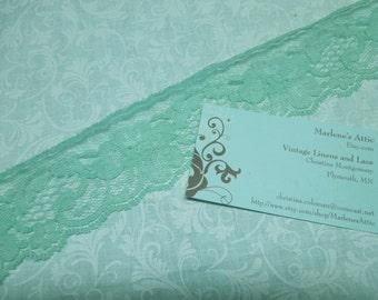 1 yard of 2 inch Seafoam Green Chantilly lace trim for garter, wedding, bridal, lingerie, spring by MarlenesAttic - Item U7