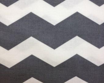 Grey Chevron Fabric - 1 YARD
