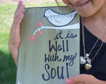 it is well with my soul handmade card