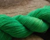 handdyed  Alpaca Laceyarn, colour s123, 2ply