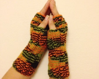 Colorful Fingerless Gloves Armwarmers Hand Knit Chic Winter Accessories Winter Fashion,valentine's day