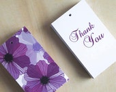 Set of 50 Gift Tags - Wedding Favor Tags, Thank you tags, Hang tags