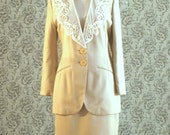 Crepe beige suit spring charter club