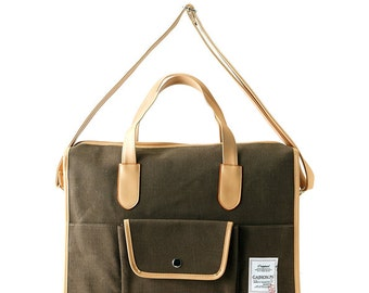 Basic pocket messenger & Tote bag (Khaki)