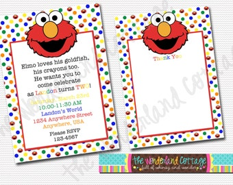 Sesame Street Elmo Invitation