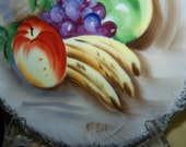 Fruit Plate Hand Painted Fruit Plate