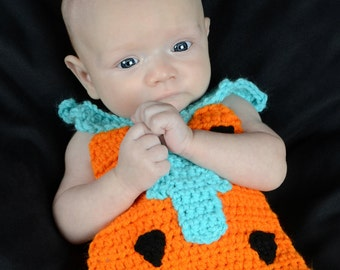 Fred Flintstone Newborn Photography Prop Crochet Pattern
