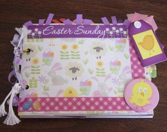 Easter 7x5 paper bag album