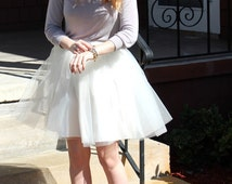 Mollie - Custom Hand-made Ladies Tulle Skirt