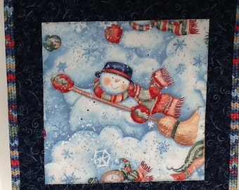 Snowman-Quilted Wall Hanging (Small)