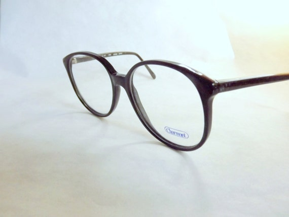 Preppy Eyeglasses, Big, Hunter Green Eyeglasses, Vintage Eyewear, Womens, Round, 80s, Vintage, New Old Stock Frames