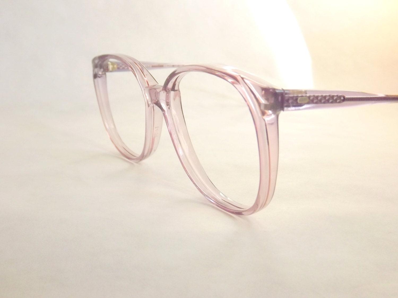 Eyeglasses Frames Purple : Big Preppy Purple Eyeglasses Frames Vintage Eyewear Womens