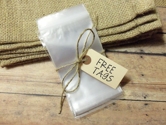 100 Count 3x5 Zip Bags, Clear Bags, Resealable Bags (includes 12 free gift tags).