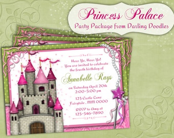 Princess Party - Princess Printable Birthday Invitation - Princess Birthday Invitation - Princess Party Decor - Printable Princess Party