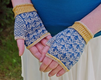 Leighton House Handwarmers Kit - Teal and Gold
