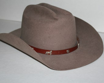 Vintage Cowboy Hat Monte Carlo Felt Size XL