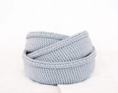 Crochet baskets. Organizer containers. Nesting bowls. Gray blue, silver. Storage Basket Organizer. Eco-Friendly