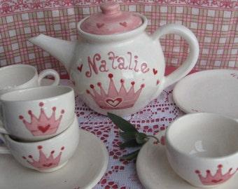 Personalized Princess Tea Set (4 place setting)