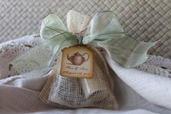bridal shower favor tea party favororganic sugar  tea, Baby shower invitation