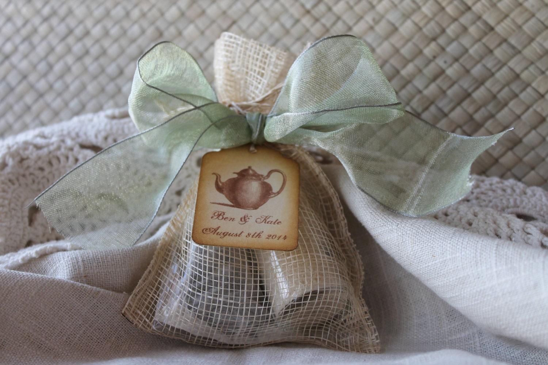 Bridal Shower Favor Tea Party Favor Organic Sugar Amp Tea