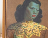 The Chinese Girl - Tretchikoff - Original Vintage Framed Print